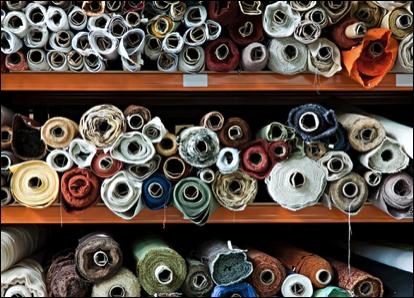 Sample room Fabric choices