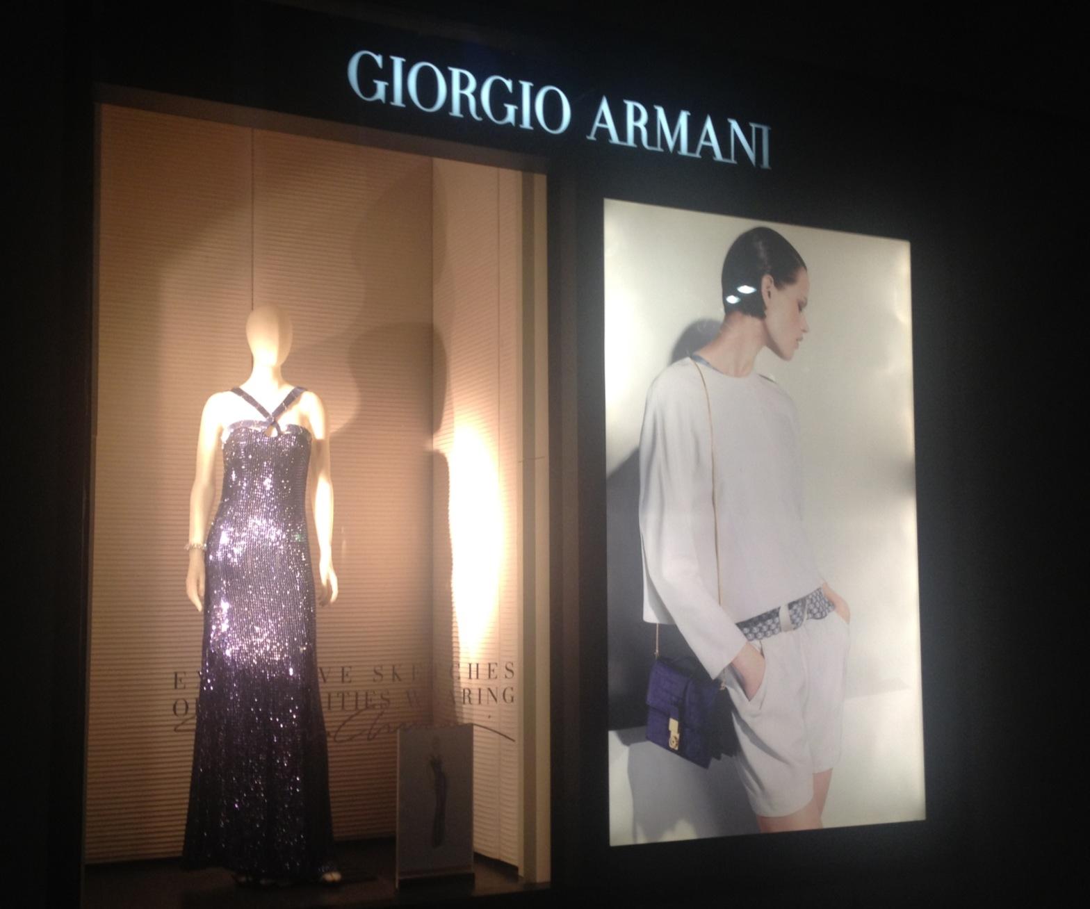 Armani window